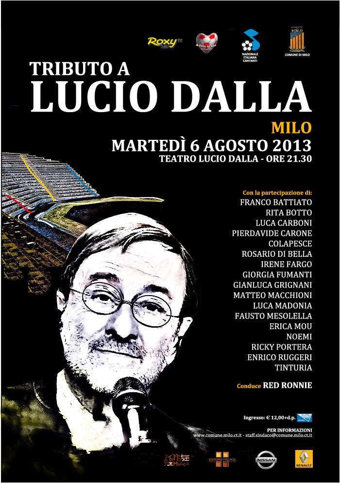 Manifesto Lucio Dalla, Milo